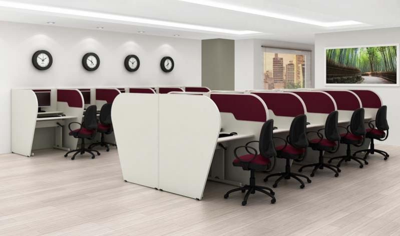 Empresa de Baias para Call Center na Residencial Novo Mundo - Estação para Call Center