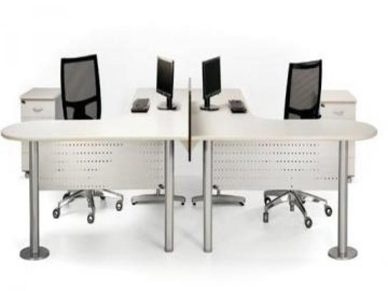 Mesa em L Branca em Embu Guaçú - Fabricante de Mesa em L