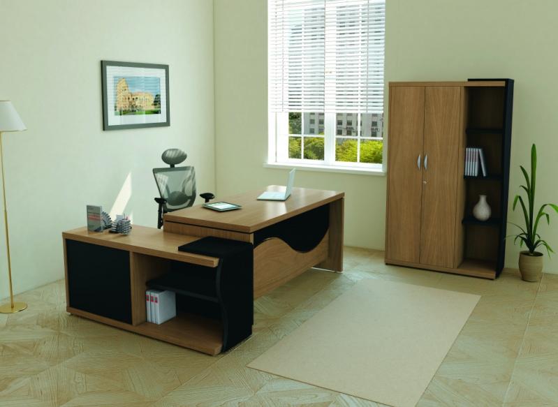 Mesa em L para Escritório Branca Jardim Belmonte - Mesa em L para Pc