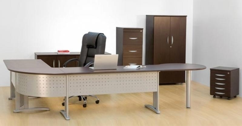 Mesa para Escritório de Advocacia Preço em Diadema - Mesa para Escritório em L com Gavetas