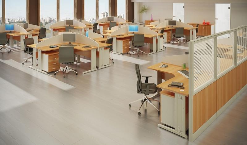 Mesa para Escritório em L com Gavetas no Tremembé - Mesa para Escritório em L com Gavetas