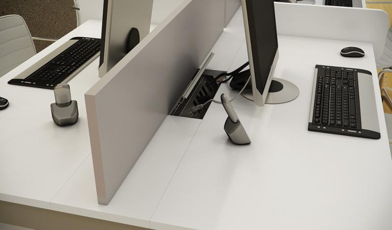 Mesas com Divisória para Escritório em Itapecerica da Serra - Mesa para Escritório em L com Gavetas
