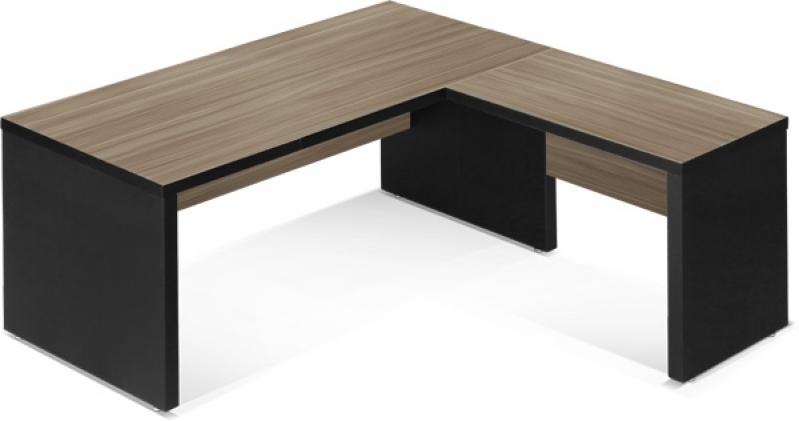 Mesas em l para escrit rio branca na bela vista mesa for Mesa escritorio l