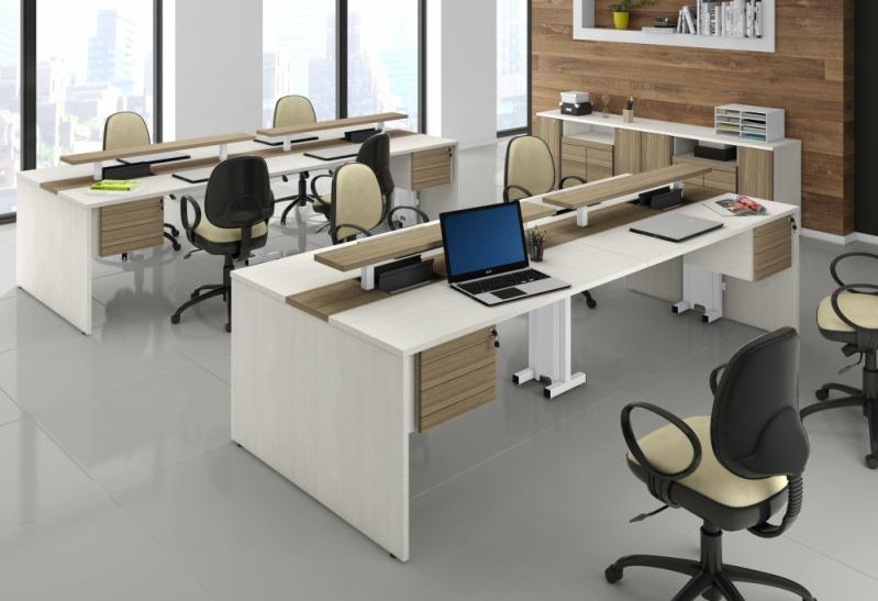 Mesas para Escritório de Contabilidade na Vila Lunardi - Mesa para Escritório em L com Gavetas