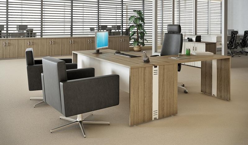 Mesas para Escritório de Madeira no Jockey Club - Mesa para Escritório em L com Gavetas