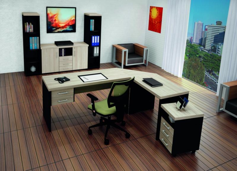 Mesas para Escritório em L com Gavetas na Aclimação - Mesas para Escritório