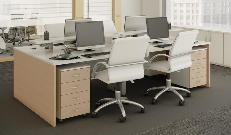 Onde Encontrar Mesa com Divisória para Escritório Jardim Rosália I - Mesa para Escritório Simples