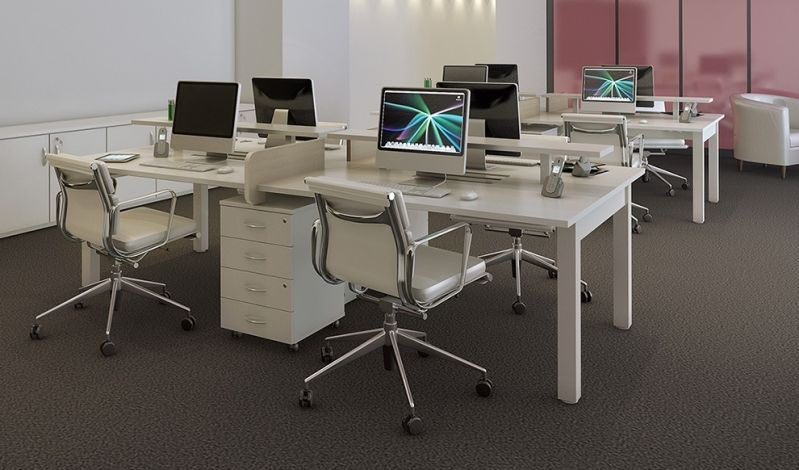 Quanto Custa Mesa com Divisória para Escritório na Reserva da Floresta - Mesa para Escritório em L com Gavetas
