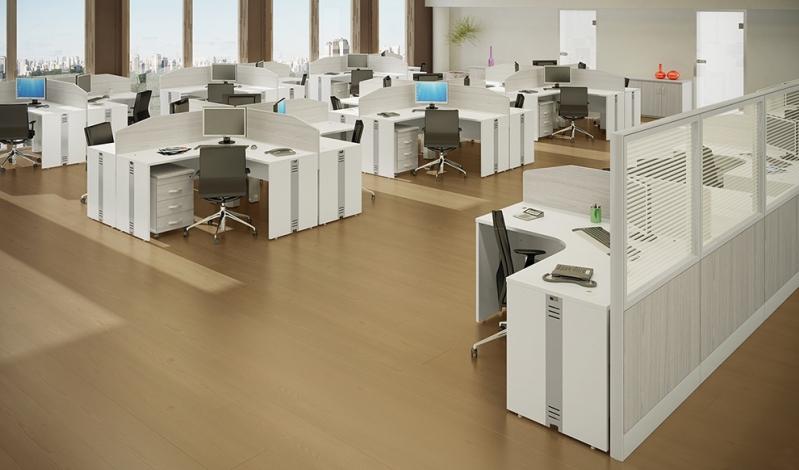 Quanto Custa Mesa em L Branca em Taboão da Serra - Fabricante de Mesa em L