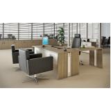 mesas para escritório de madeira no Pari